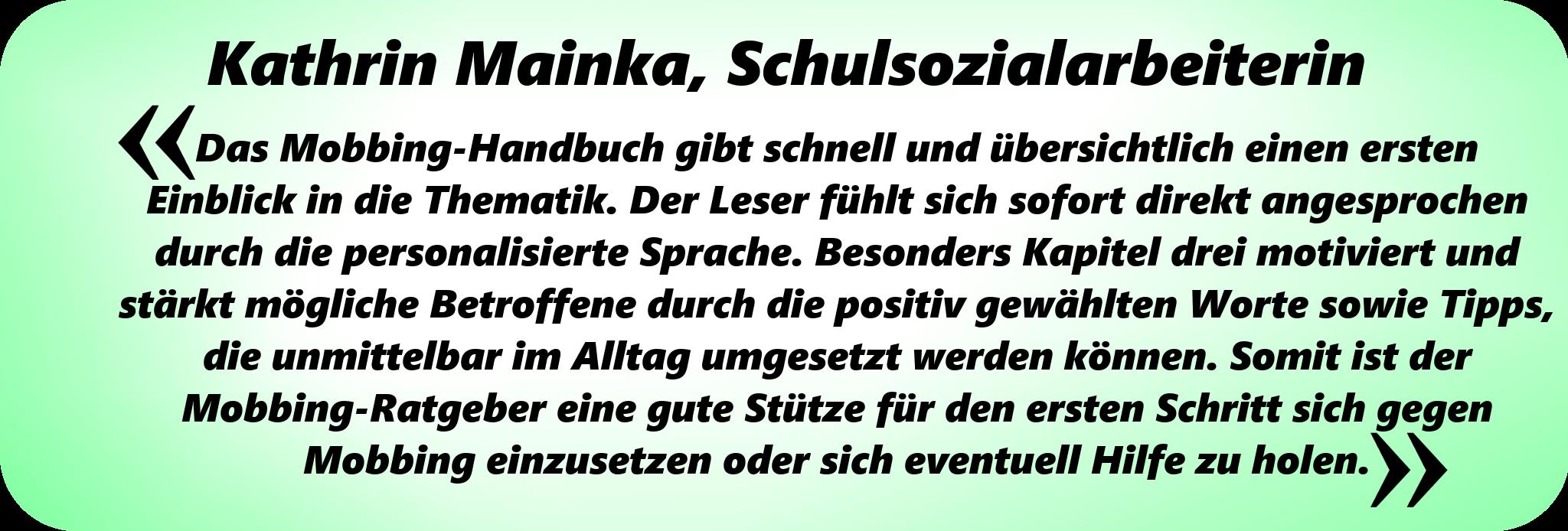 Testimonial-dasmobbinghandbuch-KathrinMainka